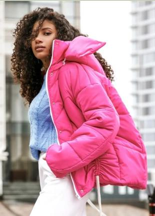 Куртка в стиле oversize фуксия