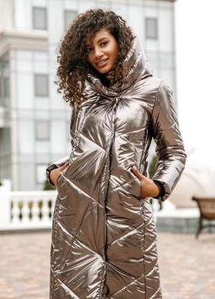 Трендовая куртка с капюшоном эко утеплитель