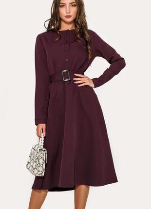 Платье в ретро стиле сливовое