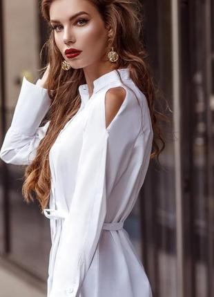 Рубашка блуза блузка белая офис офисная