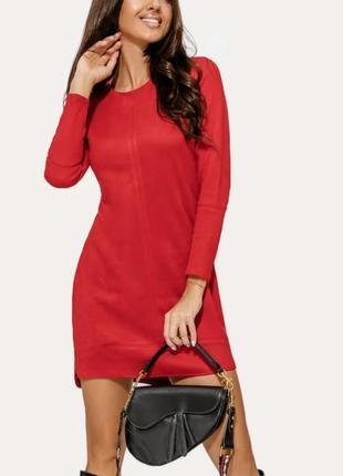 Платье красное мини🔥