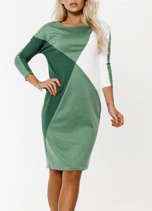 Платье зеленое на каждый день