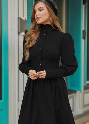 Винтажное платье черное vintage