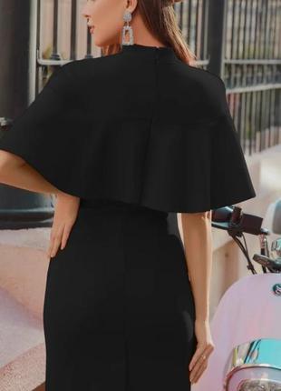 Платье классическое приталенное черное
