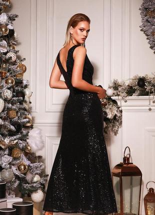 Вечернее платье в пол пайетки