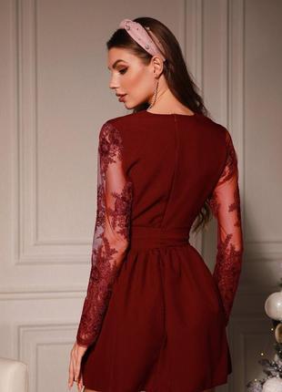 Коктейльное платье расклешенное red