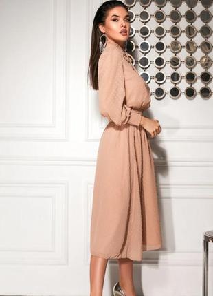 Платье в стиле бохо бежевое