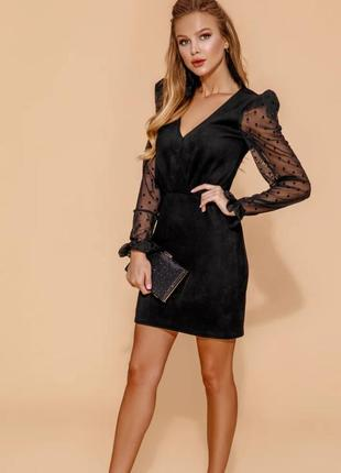 Вечернее платье черное мини