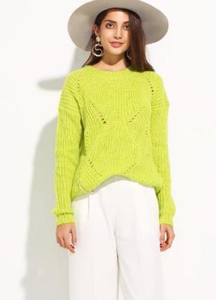 Женский свитер вязаный короткий, м