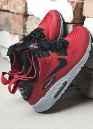 🍁nike air max 90 mid winter thermo red🍁стильные мужские кроссо...