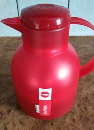 Термос Emsa Samba 1 л Красный (стеклянная колба) (504232)