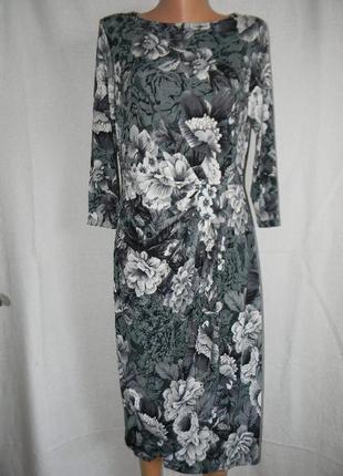Трикотажное платье с эмитацией запаха