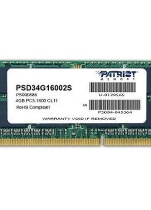 DDR3 Patriot 4GB 1600MHz CL11 SODIMM