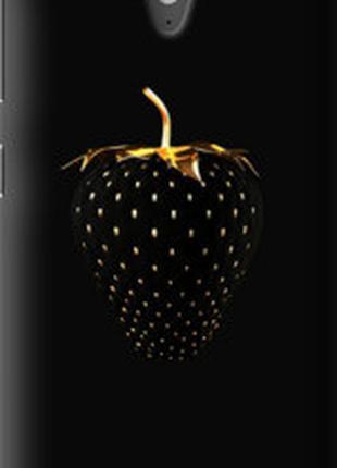 "Чехол на HTC Desire 620 Черная клубника ""3585u-186"""