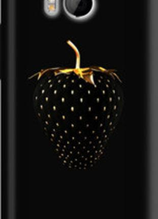 """Чехол на HTC One M8 Черная клубника """"3585m-30"""""""