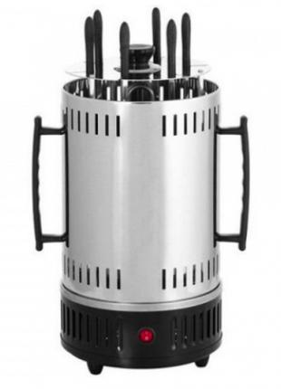 Электрошашлычница для дома Domotec BBQ на 6 шампуров 1000W