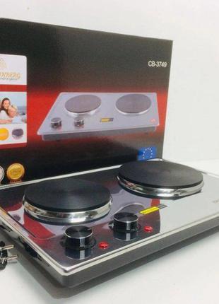 Плита электрическая дисковая настольная двухконфорочная Crownb...