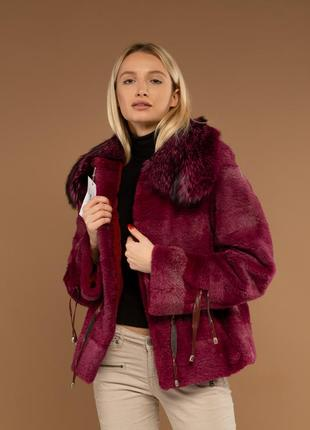 Яркая стильная осень зима 2020 шуба куртка италия из меха кана...