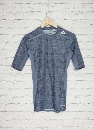Спортивная компресионная футболка adidas techfit