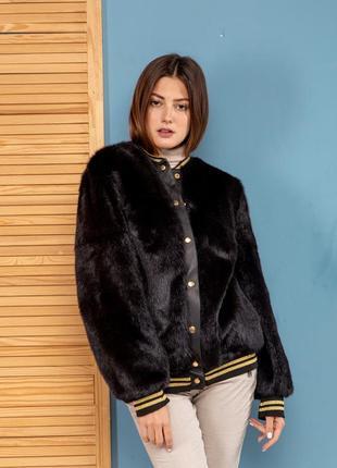 Норковая куртка шуба полушубок бомбер стильная зима весна 2020...