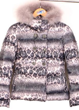 Snow Secret Италия куртка пуховик р.XS зимняя парка 90% пух