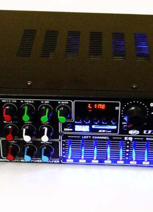 Усилитель UKC / MAX AV-326Bt + USB + Bluetoth КАРАОКЕ 4 микрофона