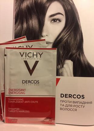 Тонизирующий шампунь от выпадения волос с аминексилом  vichy d...