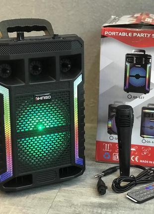 Портативная колонка Kimiso QS-627 с микрофоном и светомузыкой ...