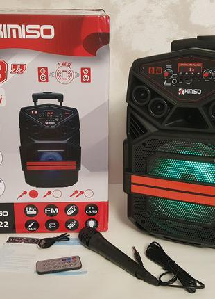 Портативная акустическая колонка Kimiso QS-822 с микрофоном (U...