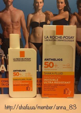 Солнцезащитный ультралегкий флюид для лица la roche-posay anth...