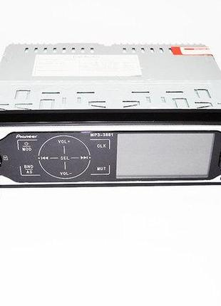 Автомагнитола Pioneer 3881 ISO - MP3, FM, USB, SD, AUX сенсорна