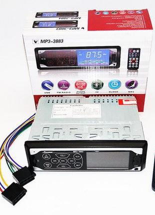 Автомагнитола Pioneer 3883 ISO - MP3, FM, USB, SD, AUX сенсорна