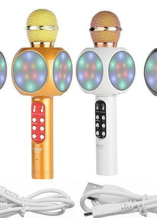 ✅ Беспроводной караоке микрофон bluetooth WS1816   детский блю...