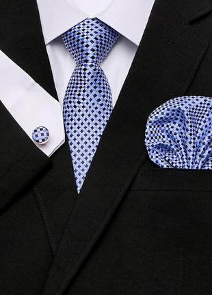 Подарочный набор мужской подарок мужчине галстук запонки комплект