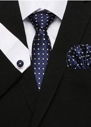 Подарочный набор для мужчины галстук запоеки и платок
