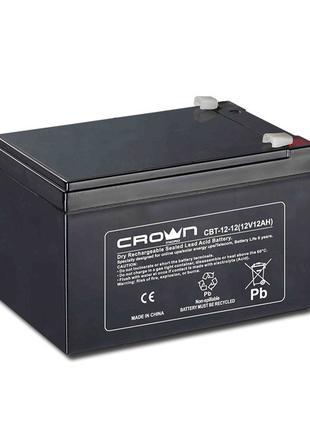 Батарея для ДБЖ 12В 12Ач Crown CBT-12-12