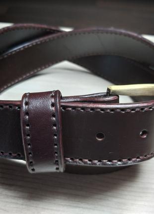 Ремень из натуральной кожи ручной работы коричневый art.002