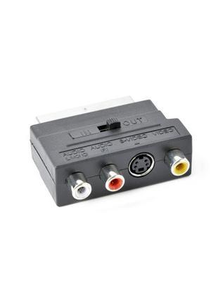 Двохнаправлений аудіо-відео адаптер SCART/RCA/S-VIDEO Cablexpe...