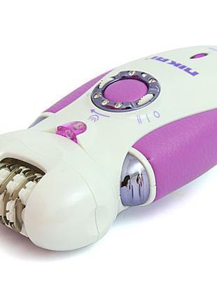Эпилятор 3 в 1 Nikai 7698 с бритвенной насадкой Violet