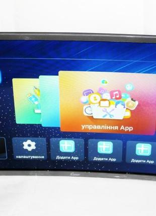 "LCD LED Телевизор Comer 32"" Изогнутый Smart TV, WiFi, 1Gb Ram"