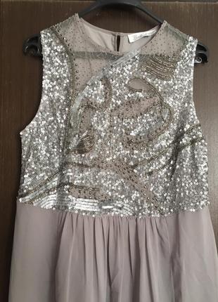 Красивейшее платье в пол с пайетками