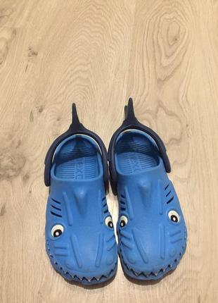 Кроксы резиновые тапочки акулы next