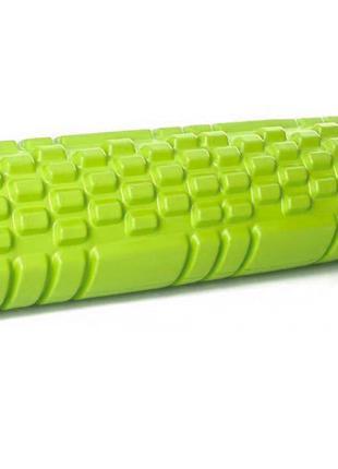 Массажный ролик для спины салатовый 30х10 см, спортивный валик...