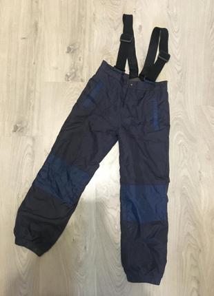 Теплые зимние лыжные штаны комбинезон
