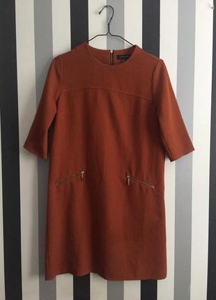 Красивое платье кирпичного цвета
