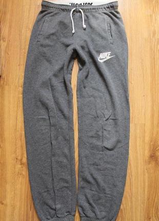 Стильные хлопковые теплые штаны на холодную погоду зиму nike