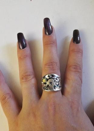 Кольцо  сакура  серебро 925 пробы размер 20,5