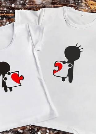 Парная футболка - пазл