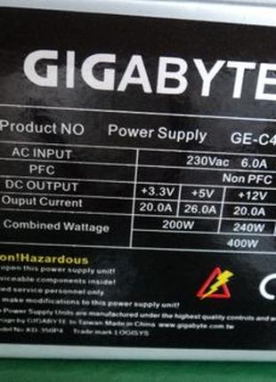 Отличный блок питания 400 В. фирма GIGABYTE