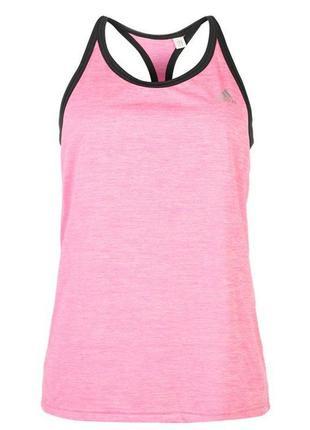 Фирменная женская розовая спортивна майка адидас adidas оригинал